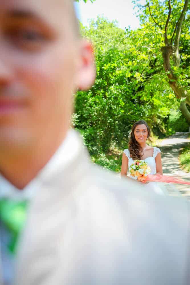 photo de mariage first look